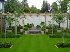 29 Easy Garden Projects You Can Build Yourself To Accent Your Backyard Simple Garden Designs, Formal Garden Design, Contemporary Garden Design, Landscape Design, Modern Design, Back Gardens, Small Gardens, Formal Gardens, Modern Gardens