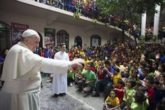 Scenes from #PopeFrancis' first full day in the Philippines, Friday, Jan. 16.
