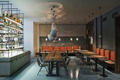 A new Argentinean restaurant was opened in mid-December 2014 in the center of Prague, in a functionalistic travertine-panelled building in Vorsilska street. The owner of the restaurant, Juan Cruz Pacin from Buenos Aires, decided to bring a piece of Argentina to the heart of Europe. Architects: Formafatal (Dagmar Štěpánová, Katarína Varsová)