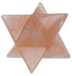 Etoile de Merkaba en quartz rose  Merkaba star in rose quartz