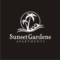 Palm Tree and Sunset logo by konstanc_m