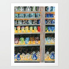 Shop Window Art Print by Shihotana