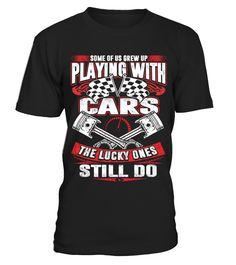 Grew Up Drag Racing  #gift #idea #shirt #image #funny #campingshirt #new