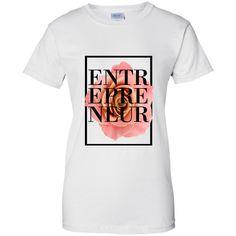 ENTREPRENEUR Ladies' 100% Cotton Short Sleeve T-Shirt- White