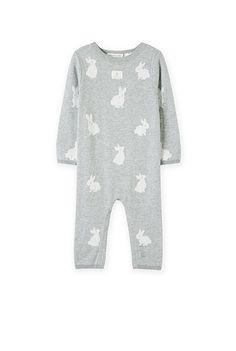 Unisex Bunny Knit Jumpsuit