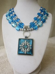 Pieces of the Carribean Capri Blue Silver Pearl by AGreenWoods