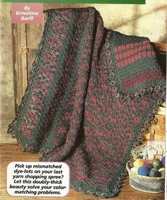 Double Thickness Afghan Crochet Pattern Throw Blanket Home Decor P-249 by PatternMania3 on Etsy