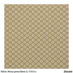 Fabric: Mossy green fabric