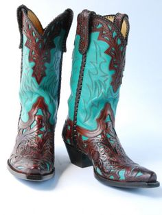 Turquoise Western Boots.