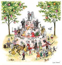 Lucie Lomová: Svatební oznámení My Magazine, Comics, Illustration, Blog, Painting, Life, Art, Art Background, Painting Art