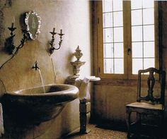 French country house's bathroom