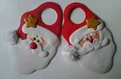 Santas para puertas Christmas Crafts, Xmas, Christmas Ornaments, Clay Baby, Creative Activities, Sewing Crafts, Dream Wedding, Santa, Lily