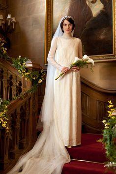 Downton Abbey Lady Mary Crawley, played by Michelle Dockery Movie Wedding Dresses, Wedding Movies, Wedding Gowns, Wedding Album, Wedding Scene, Wedding Shot, Hair Wedding, Wedding Outfits, Wedding Bridesmaids