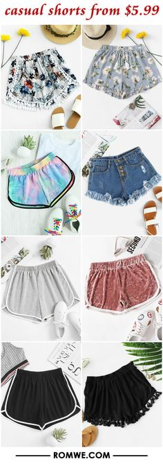 casual shorts from $5.99