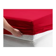 "DVALA Fitted sheet IKEA Fits mattresses with a thickness up to 10"" since the fitted sheet has elastic edging."