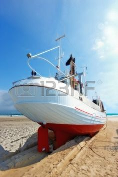 A photo of a Danish fishing boat at the beach Stock Photo - 11085931