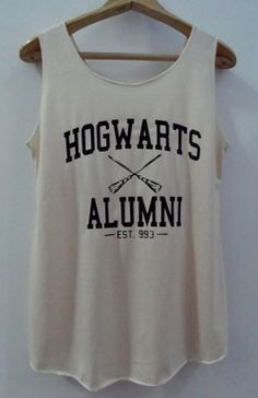 Hogwarts Alumini Tshirt Pop Punk Rock Tank Top Vest Women T shirt Movie T-Shirt SizeS,M,L