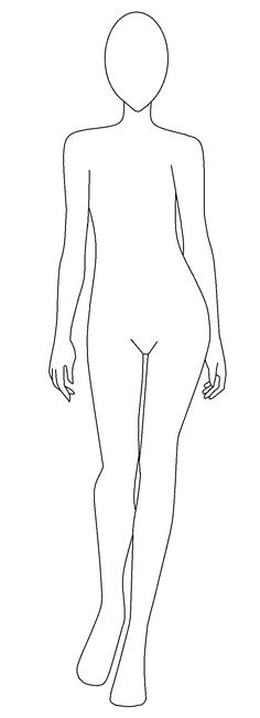 template body female sketch resume outline marvelous crafts paper cool croquis