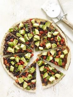 This South-of-the-Border pizza is one of 100 delicious recipes in The Forks Over Knives Plan http://perfectformuladiet.com/health/easiest-transition-whole-foods-plant-based-lifestyle/