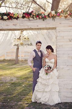 vintage wedding alter ideas