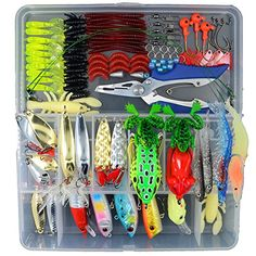 Fishing: AGadget Fishing Lures Fishing Spoons Kit Soft Plastic Fishing Lures with Tackle Box Bass Fishing Crankbaits Frogs Lures Spinner Fishing Lures both Freshwater and Saltwater Fishing Lures * Check out this great product.