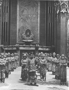 1927 Ushers At The Chinese Theater.  Wow, they look like an army led by a Chinese War Lord!