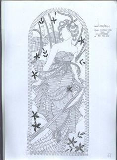Plate of a woman Hairpin Lace, Crochet Motif, Crochet Patterns, Bobbin Lacemaking, Cutwork Embroidery, Bobbin Lace Patterns, Lace Heart, Point Lace, Patch Quilt