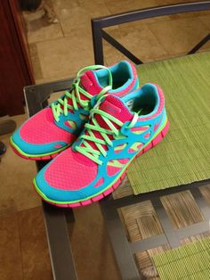 My bright and obnoxious running shoes