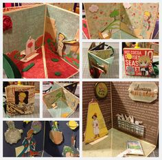 The Little Prince card with four scenes  Handmade by Jodie Hui  ~2012~