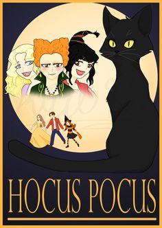 Hocus Pocus hand-drawn poster