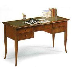 Executive Wooden Desk, Office Desk, Classic Desk, Leather Top cm 130x65, h 81…