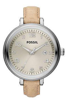 Fossil 'Bridgette' Leather Strap Watch | Nordstrom