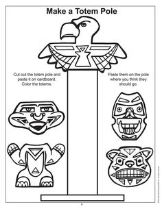 Totem Pole Coloring Pages . totem Pole Coloring Pages . Coloring Pages totem Poles Coloring Home Native American Totem Poles, Native American Art, American Indians, American History, Canadian History, American Symbols, American Quotes, American Women, Totem Pole Craft