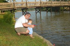 While this dad gives his young son some fishing tips, here are some tax tips for him on this Father's Day.