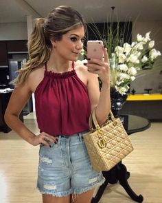 2016 Sexy Women Tank Tops new summer Pleated Chiffon Strapless halter collar double all-match leisure base small sling Casual Wear, Casual Outfits, Cute Outfits, Fashion Outfits, Womens Fashion, Fashion Tag, Top Mode, Mode Style, Casual Looks