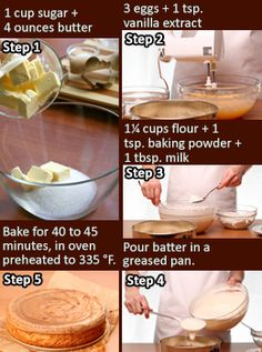 Cake recipe from scratch