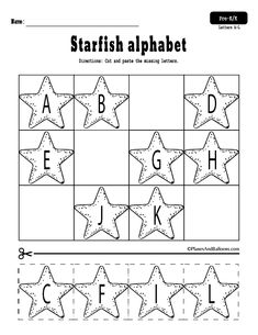 Summer letters, numbers, and shapes cut and paste worksheets - Colorful Dreams Kindergarten Nursery Letter S Activities, Preschool Letters, Letter A Crafts, Learning Letters, Preschool Binder, September Preschool, Preschool Alphabet, Alphabet Crafts, Alphabet Letters