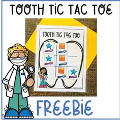 Dental Health Shape Tic Tac Toe for Preschool- Freebie | TpT Hard Words, Tic Tac Toe, Preschool Math, Dental Health, Teacher Newsletter, Math Centers, Teaching, Activities, Shapes