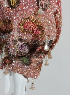 Close-up from a Schiaparelli bolero jacket of c.1948 with Lesage embroidery.