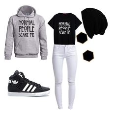 Untitled #41 by naturelover1401 on Polyvore featuring polyvore, fashion, style, ONLY, adidas and Janna Conner Designs