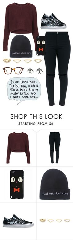 """""""Gail"""" by anna-fozo ❤ liked on Polyvore featuring Topshop, Wet Seal, Vans, Charlotte Russe and Blackbird and the Snow"""