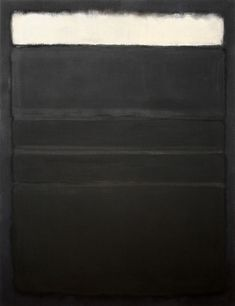 Mark Rothko, Untitled (White, Blacks, Grays on Maroon) 1963