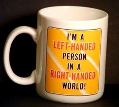 Left Handed Coffee Mug Cup Funny Humor Ceramic