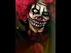 Scary Clown MakeUp Tutorial for Halloween Halloween Clown, Scary Clown Costume, Creepy Halloween Makeup, Scary Clowns, Diy Halloween Costumes, Halloween Make Up, Pretty Halloween, Costume Ideas, Evil Clowns
