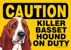 Our 5×7 inch Basset Hound dog breed signs are made of a high gloss laminated plastic and make a splendid gift for all dog lovers! There is a magnet, velcro, and a spot for a pin hole which allows you to hang your sign in more ways than one.