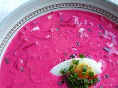 Chłodnik: zupa na lato // Chłodnik: typical Polish soup eaten in summer  #summer #food #restaurant
