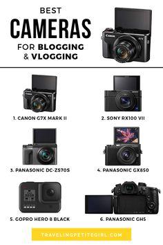 Best Camera For Blogging, Best Vlogging Camera, Vlog Camera, Camera Tips, Film Camera, Best Camera For Photography, Photography Tips, Photography Equipment, Cool Stuff