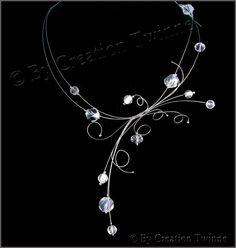 clair blanc collier en argent collier de mariée collier