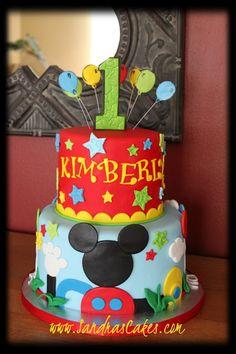 Sandra's Cakes: Mickey Clubhouse Birthday Cake