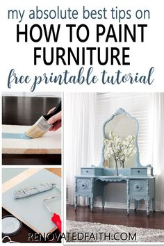 This checklist will show you the same process I use on every furniture piece I refinish and it's FREE! Whether you are refinishing a family antique or painting a roadside rescue, these simple tips will show you the fail-proof way to paint furniture that lasts! From putting paint brushes in your refrigerator to wearing your clothes inside out, these easy hacks that will make your next paint job your easiest one yet! Professional secrets for an amazingly smooth surface without brush strokes Paint Furniture, Furniture Projects, Furniture Makeover, Diy Projects, Distressed Furniture, Farmhouse Furniture, Roadside Rescue, Easy Hacks, Bedroom Dressers